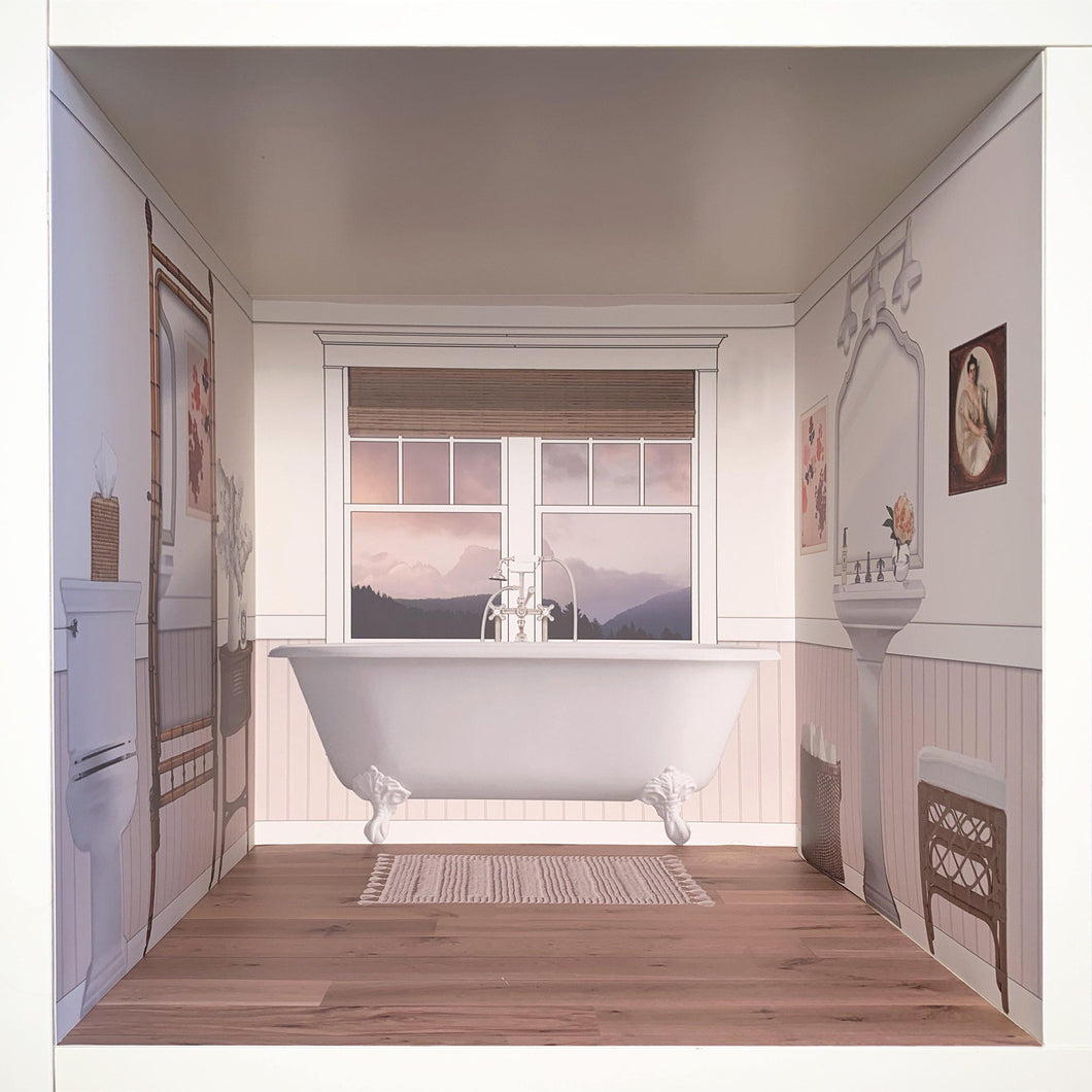 Pale Retreat: myDoll.house bathroom photo of ikea hack diy dollhouse room insert