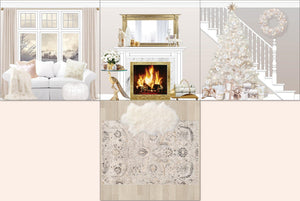 White Christmas room insert full open layout