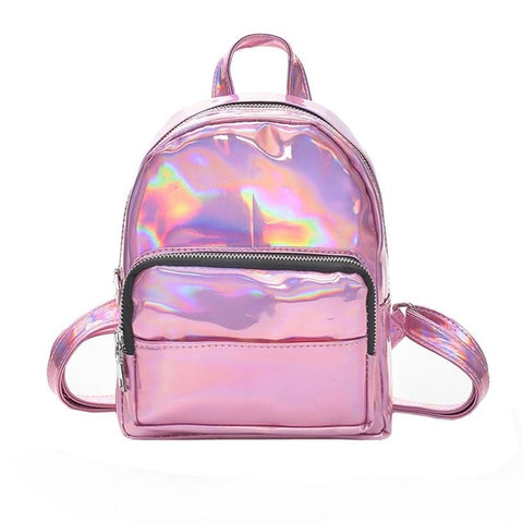 Mini's Pink Laser Faux Leather Backpack