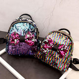 Mini's Rainbow Sequins Bow Tie Satchel Backpack