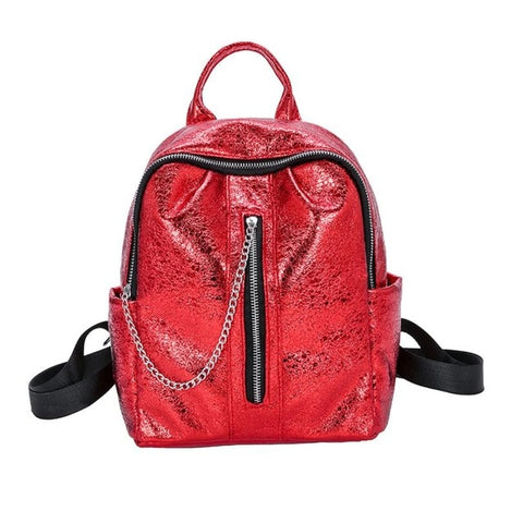 Mini's Red Luxe Mini with chin zipper