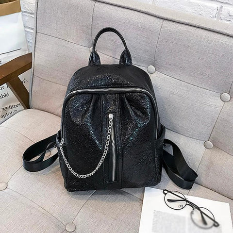 Mini's Black Luxe Mini with chin zipper
