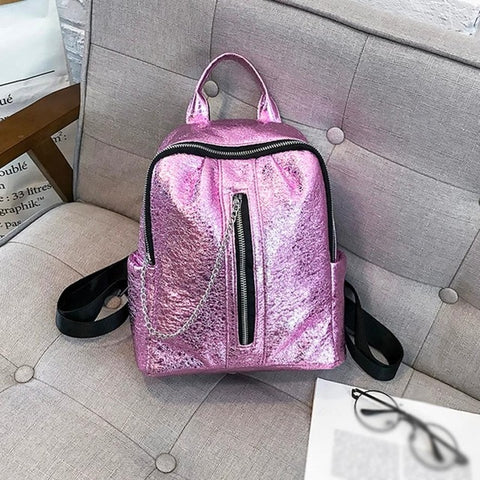 Mini's Pink Luxe Mini with chin zipper