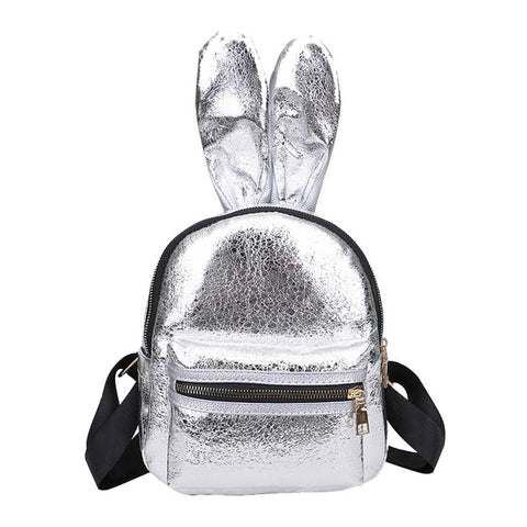 Silver | Bunny Shine Softback Faux Leather
