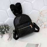 Black | Bunny Shine Softback Faux Leather