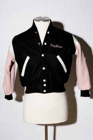 Sexy Eleven Ladies Pink & Black Varsity Jacket