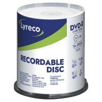 Pk100 lyreco dvd-r 4.7gb 16x spindle