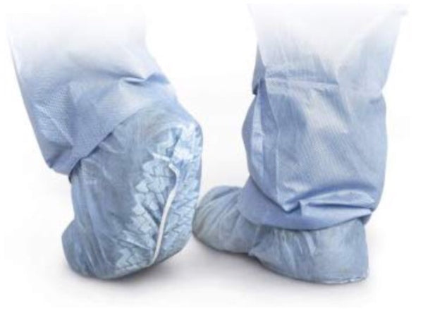 Shoe covers-Medline polypropylene non-kid shoe covers, Large, blue, 100/box