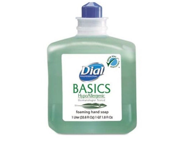 Soap-Dial Professional Basics foaming soap refil, 1000ml, Honeysuckle, 6/carton, compatible w/dial professional foam dispenser , $9.16/ea
