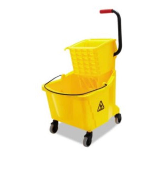 Boardwalk Pro-Pac Side-squeeze 35qt wringer/bucket