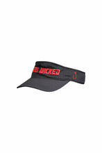 Blk Visor w Red