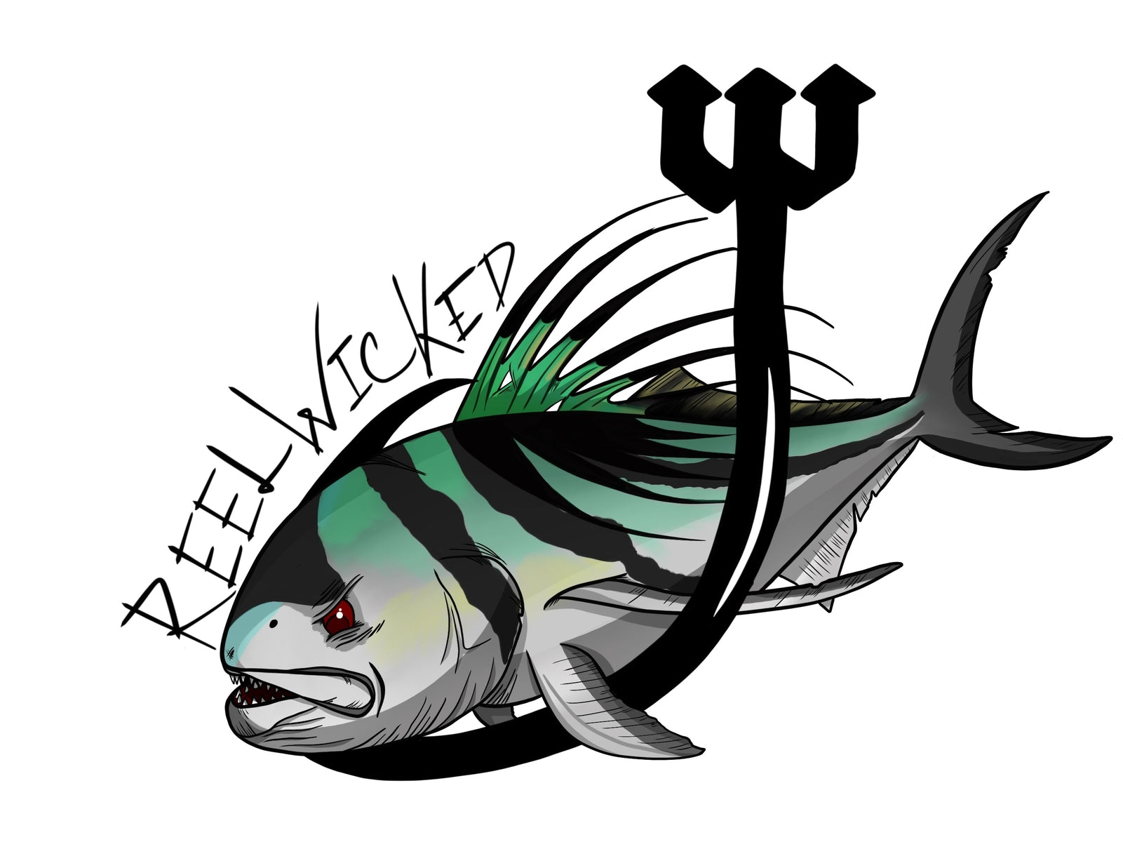Roosterfish Decal