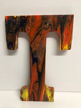 Load image into Gallery viewer, Wood Initials Letter T Hand Painted Door Hanger