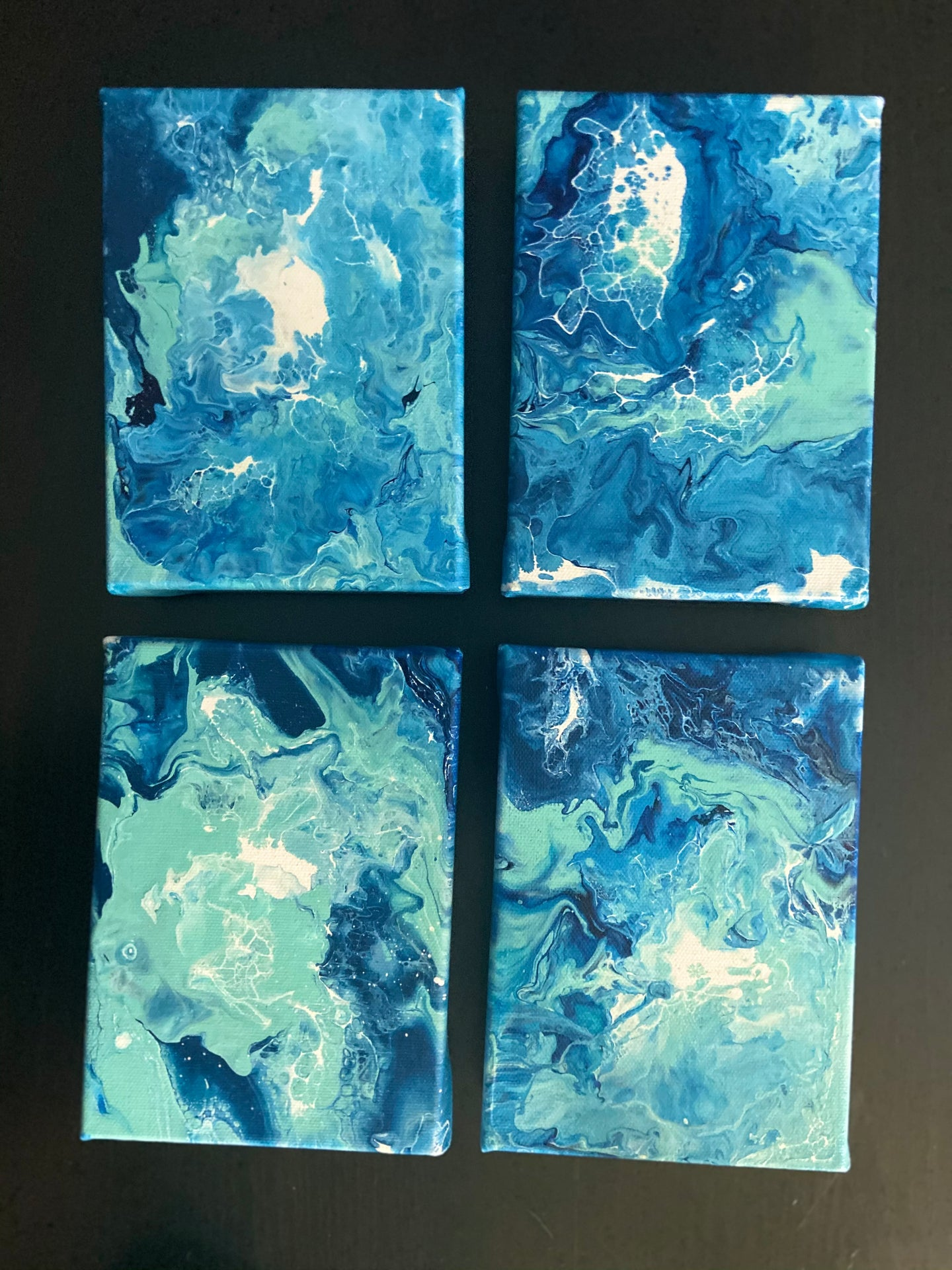 "SOLD OUT Canvas painting  SET 5"" x  7"""