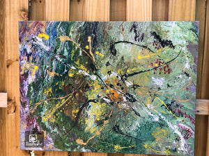 "30""x 40"" Abstract Hand Painted Acrylic Art"