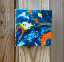 "Load image into Gallery viewer, Acrylic Canvas Painting  6"" x  6"" x 1.5"""