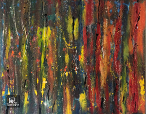 "Abstract Painting 60"" x 40"" multicolored original acrylic painting"