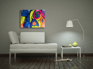 "Acrylic Abstract original  Painting 30"" x 40"" SUMMER GIRL"