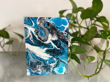 "Load image into Gallery viewer, 7"" x 5"" Abstract Acrylic Pour Painting"