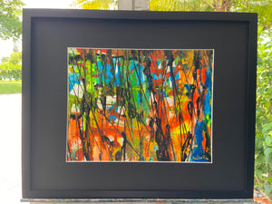 "Framed Original Artwork  16"" X 20"""