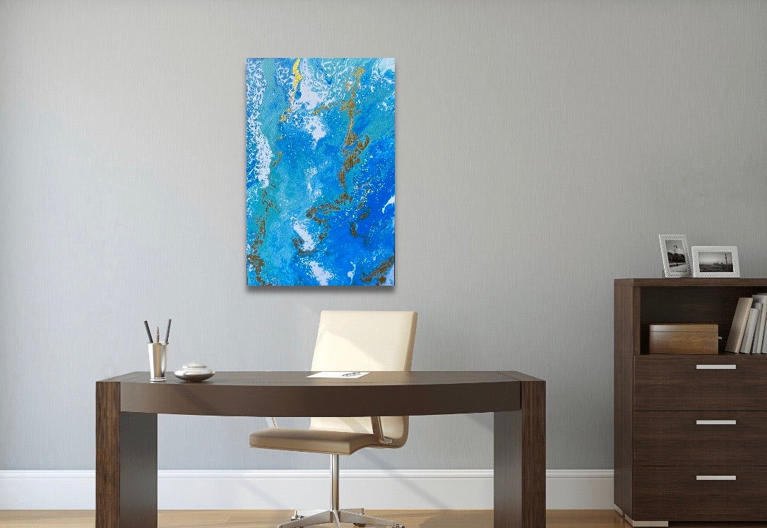 "Azure Royal  24"" x 36"" Painting"