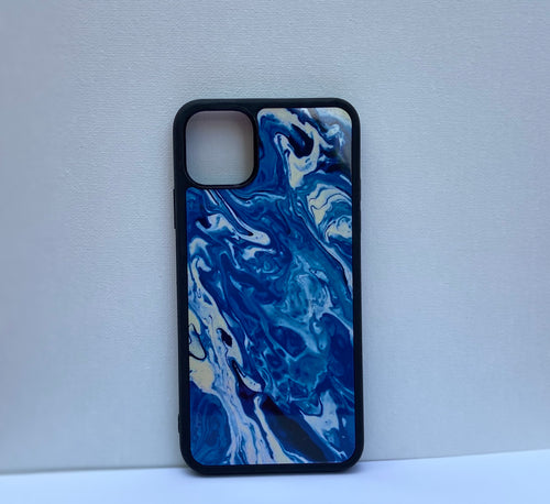 "iPhone 11 Pro Max Case ""Blue Waves"""