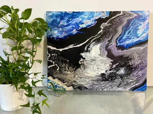 16 x 20 Abstract Acrylic Pour Paintings