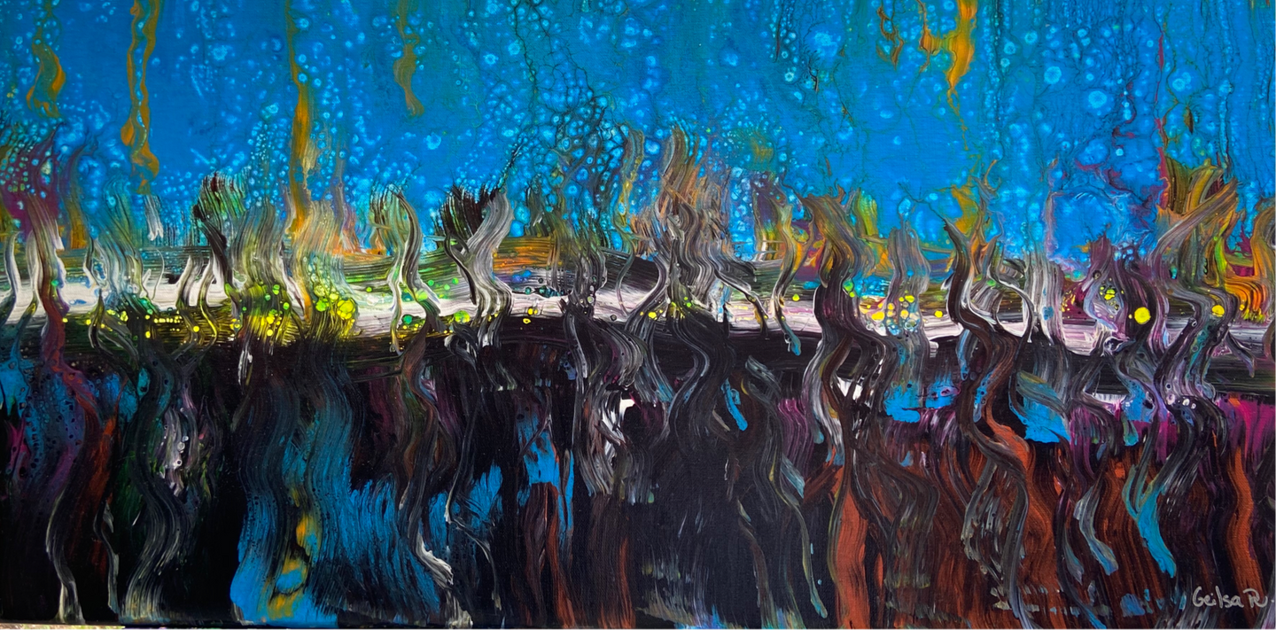 "Abstract Painting 15"" x 30"""