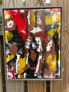 16 x 20  Framed Abstract Acrylic Painting