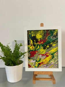 "Framed Abstract Painting 8"" x 10"""