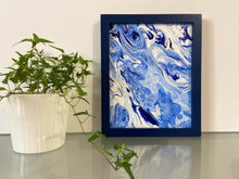 "Load image into Gallery viewer, Framed Acrylic Pour Painting 8"" x 10"""