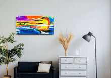 "Load image into Gallery viewer, 24"" x 12"" Set  Abstract Painting"