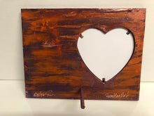 "Load image into Gallery viewer, Hand Painted Wood Photo Frame 8.3"" x 6.3"" x 0.3"""