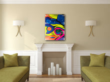 "Load image into Gallery viewer, Acrylic Abstract original  Painting 30"" x 40"" SUMMER GIRL"
