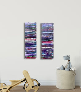 "24"" x 8"" Set Canvas Painting"