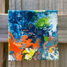 "Load image into Gallery viewer, Acrylic Canvas Painting  5"" x  5"" x 1.5"""