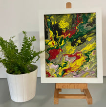 "Load image into Gallery viewer, Framed Abstract Painting 8"" x 10"""
