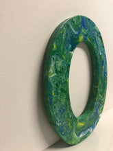 Load image into Gallery viewer, Wood Initials Letter O Hand Painted Door Hanger