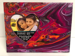 "Hand Painted Wood Photo Frame 8.3"" x 6.3"" x 0.3"""