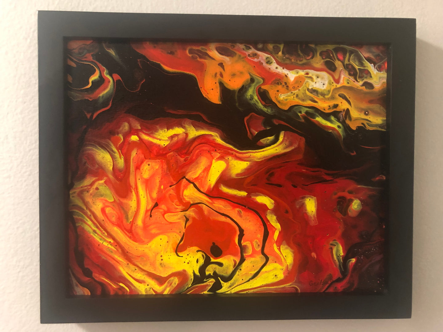 Abstract Acrylic Pour Painting  8x10 Acrylic Pour