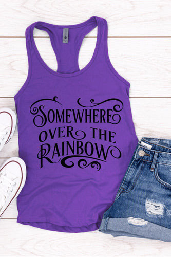 Somewhere Over The Rainbow Racerback