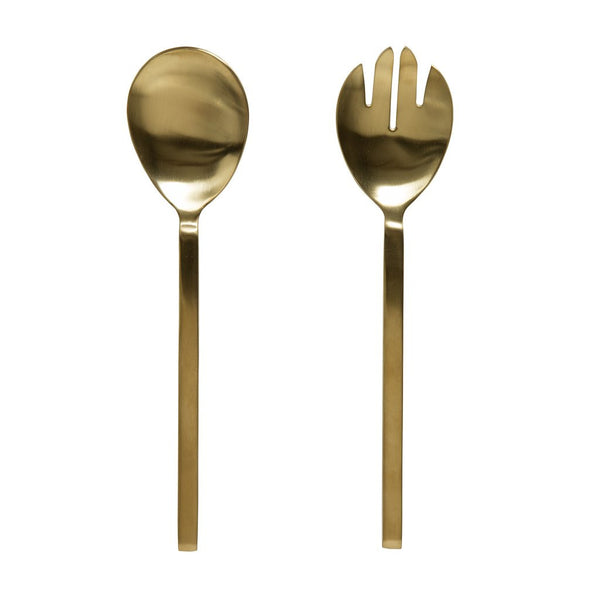 Milk & Sugar Asta Salad Servers Brass