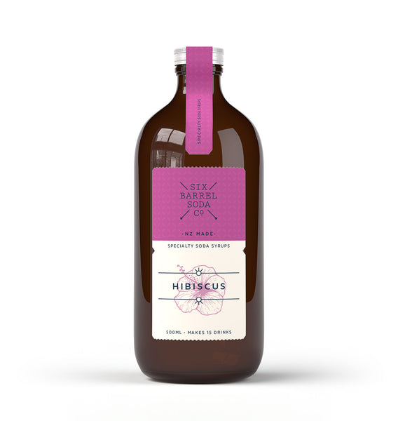 Six Barrel Soda Hibiscus Premium Soda Syrup - 500ml