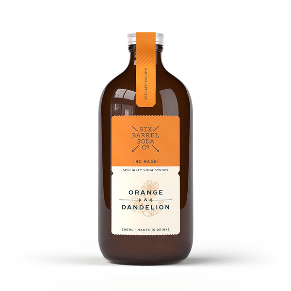Six Barrel Soda Orange and Dandelion Soda Syrup 500ml