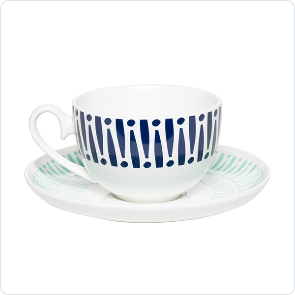 Milk & Sugar Harley Teacup Mint/Navy