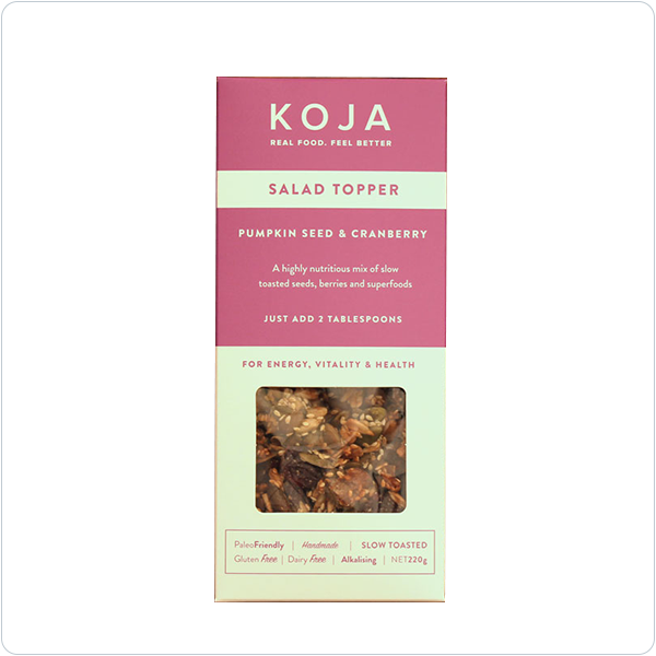 KOJA Pumpkin Seed & Cranberry Salad Topper - 220gm