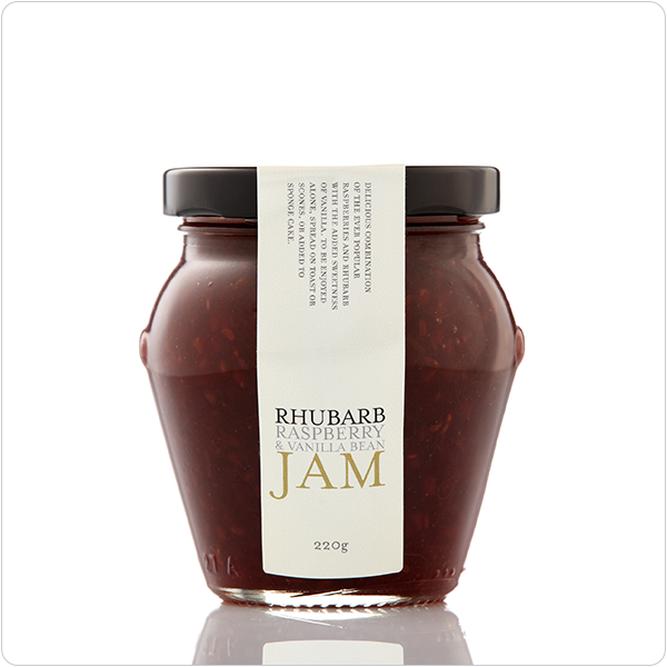 Yarra Valley Gourmet Foods Rhubarb Raspberry & Vanilla Bean Jam - 230gm