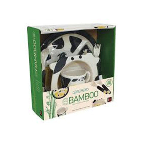 E Bamboo Kids Dinner Sets - Cow