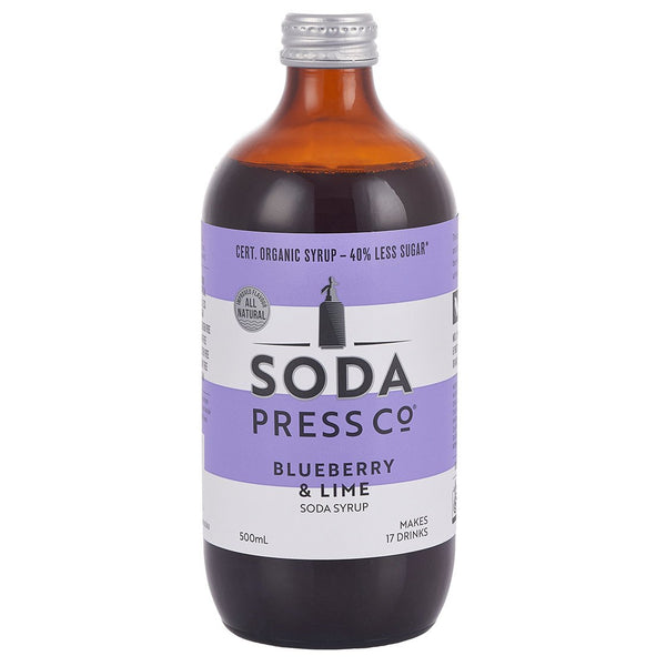 Soda Press Co Blueberry & Lime Soda Syrup - 500ml
