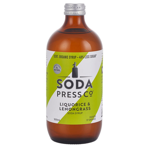 Soda Press Co Liquorice & Lemongrass Soda Syrup - 500ml